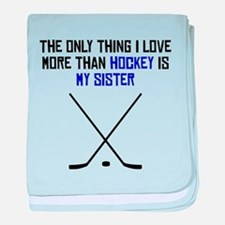 Hockey Sister baby blanket
