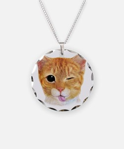 Miley's Giant Cat Necklace