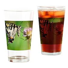 Butterfly Beauty Queen Drinking Glass