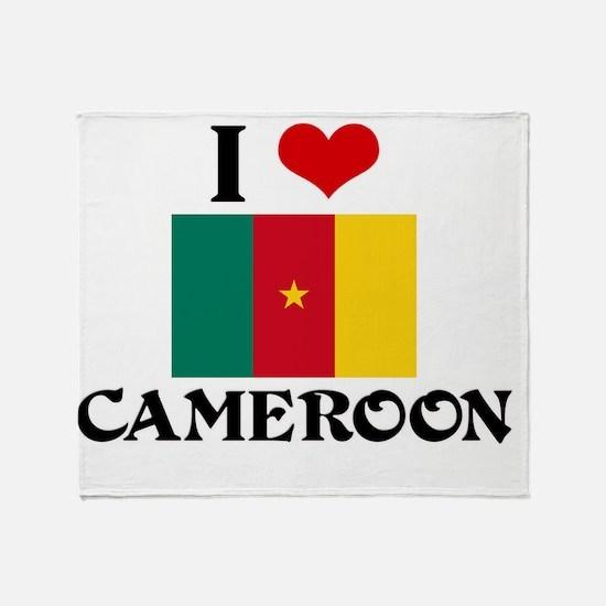 I HEART CAMEROON FLAG Throw Blanket