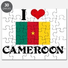 I HEART CAMEROON FLAG Puzzle