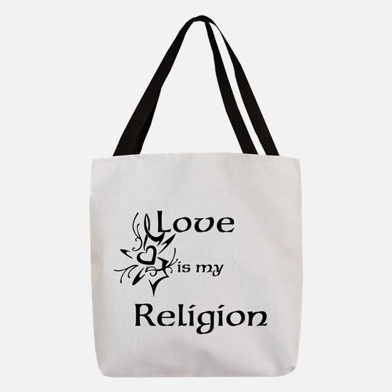 love is my religion Polyester Tote Bag