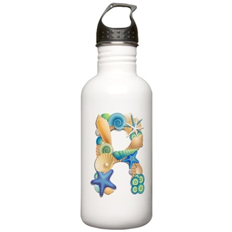 Beach Theme Initial R Stainless Water Bottle 1.0L