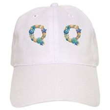 Beach Theme Initial Q Baseball Cap