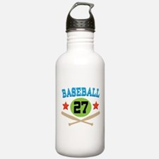Baseball Player Number 27 Water Bottle