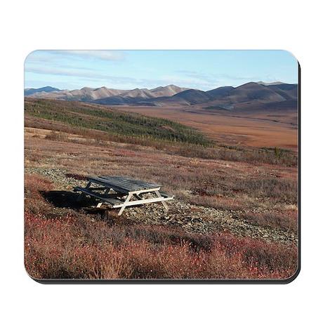Picnic Table At The Arctic Circle Mousepad