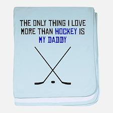 Hockey Daddy baby blanket