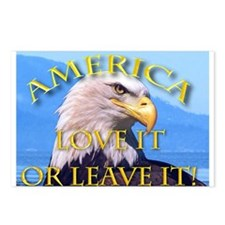 America Love It Leave It Postcards (Package of 8)