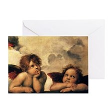 Angels by Raphael, Vintage Renaissan Greeting Card