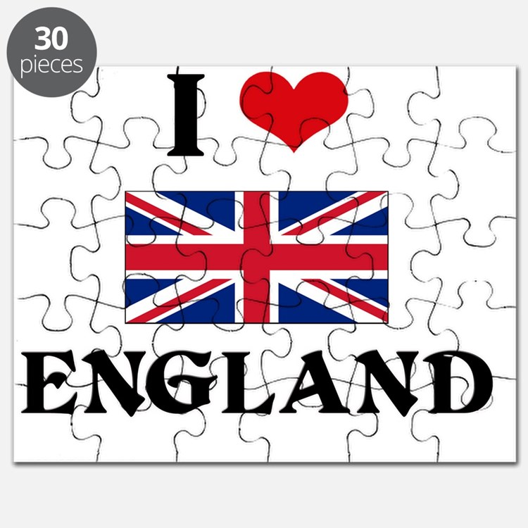 I HEART ENGLAND FLAG Puzzle