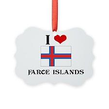 I HEART FAROE ISLANDS FLAG Ornament