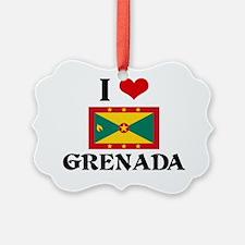 I HEART GRENADA FLAG Ornament