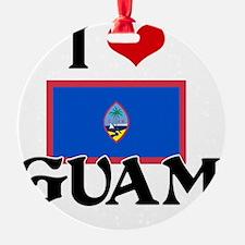 I HEART GUAM FLAG Ornament