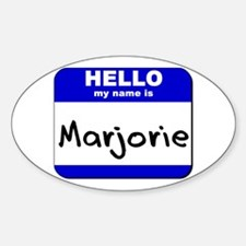 hello my name is marjorie Oval Decal