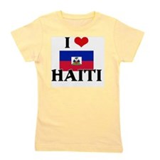 I HEART HAITI FLAG Girl's Tee