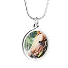 SECRETARIAT Silver Round Necklace