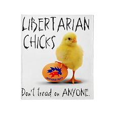 Libertarian Chick Throw Blanket