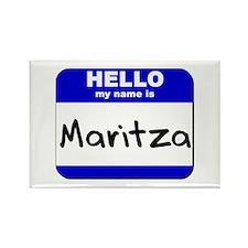 hello my name is maritza Rectangle Magnet