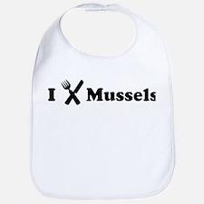 I Eat Mussels Bib