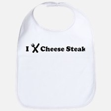 I Eat Cheese Steak Bib