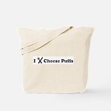 I Eat Cheese Puffs Tote Bag