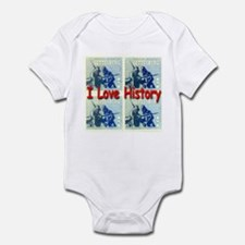 I Love History Infant Bodysuit