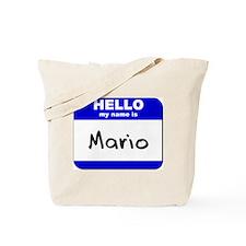 hello my name is mario Tote Bag