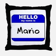 hello my name is mario  Throw Pillow