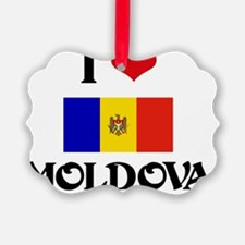 I HEART MOLDOVA FLAG Ornament