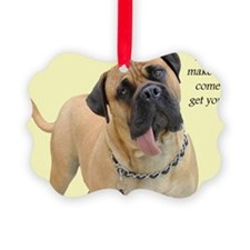 Mastiff Birthday Card Ornament