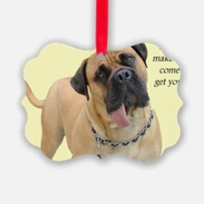Mastiff Birthday Card Ornament