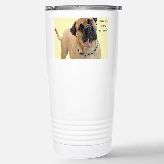 Mastiff Birthday Card Stainless Steel Travel Mug