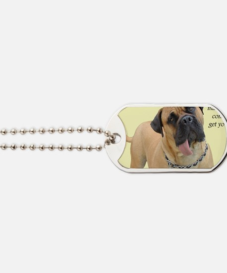 Mastiff Birthday Card Dog Tags