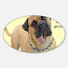 Mastiff Birthday Card Decal