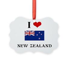 I HEART NEW ZEALAND FLAG Ornament