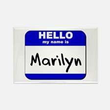 hello my name is marilyn Rectangle Magnet