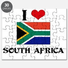I HEART SOUTH AFRICA FLAG Puzzle