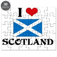 I HEART SCOTLAND FLAG Puzzle