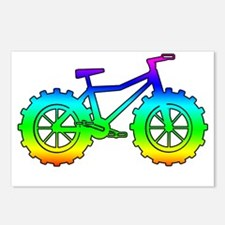 Rainbow fatbike Postcards (Package of 8)