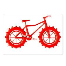 windblown red fat bike lo Postcards (Package of 8)