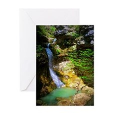 Eden Falls at Lost Valley Greeting Card