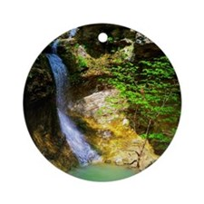 Eden Falls at Lost Valley Round Ornament
