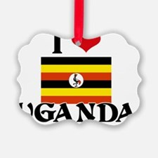 I HEART UGANDA FLAG Ornament