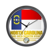 North Carolina Flag Wall Clock