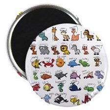Silly Zoo Animals Magnet