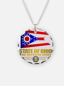 Ohio Flag Necklace