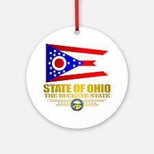 Ohio Flag Round Ornament
