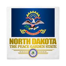 North Dakota Flag Queen Duvet