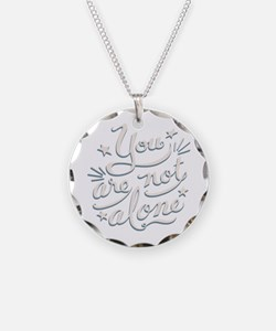 not-alone-DKT Necklace Circle Charm
