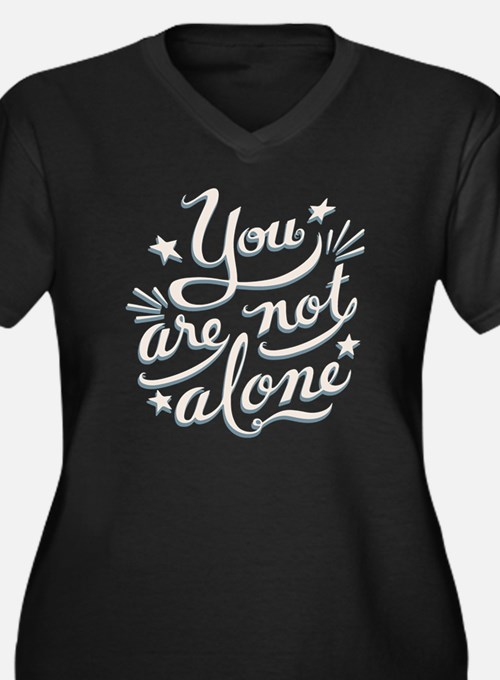 not-alone-DK Women's Plus Size Dark V-Neck T-Shirt